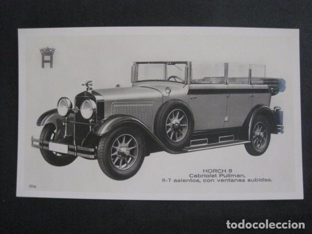 HORCH 8 - CABRIOLET PULLMAN -PEQUEÑO CARTEL -VER FOTOS-(V-11.080) (Coches y Motocicletas Antiguas y Clásicas - Catálogos, Publicidad y Libros de mecánica)