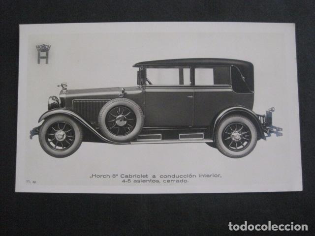 HORCH 8 - CABRIOLET -PEQUEÑO CARTEL -VER FOTOS-(V-11.084) (Coches y Motocicletas Antiguas y Clásicas - Catálogos, Publicidad y Libros de mecánica)