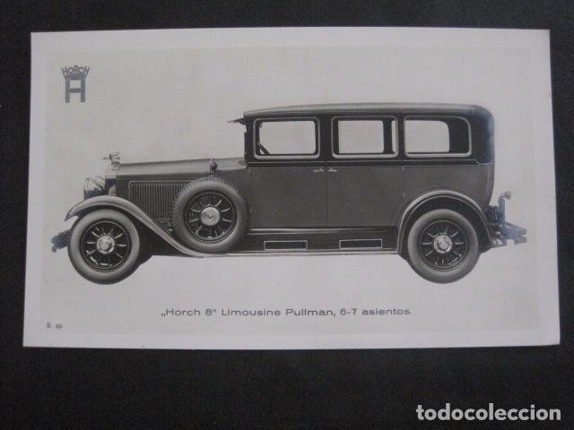 HORCH 8 - LIMOUSINE PULLMAN -PEQUEÑO CARTEL -VER FOTOS-(V-11.085) (Coches y Motocicletas Antiguas y Clásicas - Catálogos, Publicidad y Libros de mecánica)