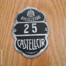 Coches y Motocicletas: CHAPA PLACA BICIS - CASTELLCIR - BARCELONA - PLACA N. 25. Lote 86754052