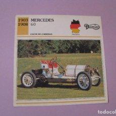 Coches y Motocicletas: AUTOS DE COLECCIÓN. PLANETA DE AGOSTINI. 1992. MERCEDES 60.. Lote 86879128