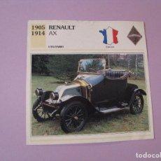 Coches y Motocicletas: AUTOS DE COLECCIÓN. PLANETA DE AGOSTINI. 1992. RENAULT AX.. Lote 86949300