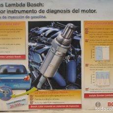 Coches y Motocicletas: CARTEL DE PUBLICIDAD BOSCH - PIEZAS AUTOMOVIL EN PLASTICO CON RELIEVE.. Lote 87424152