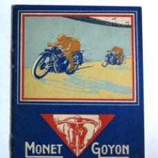 Coches y Motocicletas: MOTOCYCLETTES MONET GOYON. LIBRO DE INSTRUCCIONES. FRANCIA 1929 / 1930. Lote 87431376