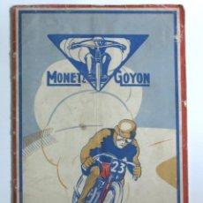 Coches y Motocicletas: MOTOCYCLETTES MONET & GOYON. LIBRO DE INSTRUCCIONES. FRANCIA 1929 / 1930. Lote 87431908