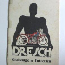 Coches y Motocicletas: MOTOCYCLETTES DRESCH. LIBRO DE INSTRUCCIONES. FRANCIA 1930. Lote 87432172