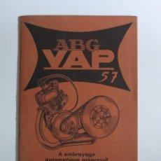 Coches y Motocicletas: MOTOCYCLETTES ABG VAP. LIBRO DE INSTRUCCIONES. FRANCIA 1957. Lote 87433044