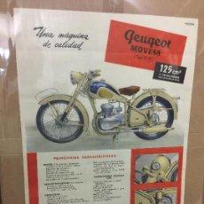 Coches y Motocicletas: POSTER MOTO PEUGEOT MOVESA AÑOS 60. Lote 87461752