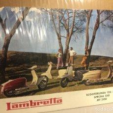 Coches y Motocicletas: POSTER MOTO LAMBRETTA 125 150 175 Y JET 200 ORIGINAL DE 1967. Lote 87462212