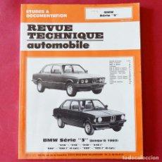 Coches y Motocicletas: BMW - SERIE 3 - ANTIGUO MANUAL DE INSTRUCCIONES - REVUE TECNIQUE - EN FRANCES - 130 PAGINAS . Lote 87637712