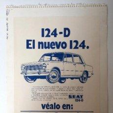 Coches y Motocicletas: PUBLICIDAD 124 - D CON PRECIOS FRANCO FABRICA (CONCESIONARIO FIGUERES) . Lote 87667992