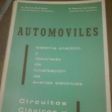 Coches y Motocicletas: AUTOMOVILES LOCALIZACION AVERIAS ELECTRICAS.1970. Lote 87688640