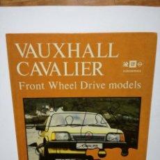 Coches y Motocicletas: LIBRO - VAUXHALL CAVALIER - FRONT WHEEL DRIVE MODELS - MANUAL DE REPARACION - ED. HAYNES AÑO 1983. Lote 87774172