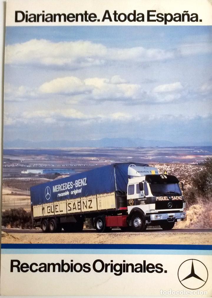 CATÁLOGO ORIGINAL RECAMBIOS MERCEDES-BENZ. AÑO 1985. (Coches y Motocicletas Antiguas y Clásicas - Catálogos, Publicidad y Libros de mecánica)