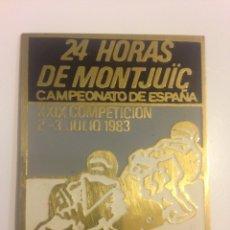 Carros e motociclos: PIN 24 HORAS DE MONJUÏC - MOTOCICLISMO. Lote 87926563