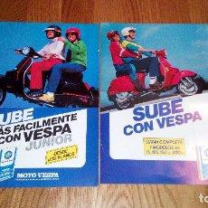 Coches y Motocicletas: VESPA CATALOGO FOLLETO PUBLICITARIO. Lote 87948164