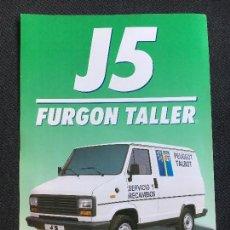 Coches y Motocicletas: FOLLETO CATALOGO PUBLICIDAD ORIGINAL PEUGEOT J5 FURGON TALLER. Lote 88102328