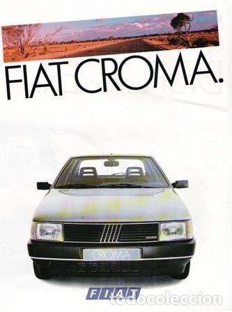 FOLLETO FIAT CROMA, (Coches y Motocicletas Antiguas y Clásicas - Catálogos, Publicidad y Libros de mecánica)