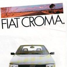 Coches y Motocicletas: FOLLETO FIAT CROMA,. Lote 88131560