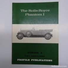 Coches y Motocicletas: AUTOMOVILISMO: THE ROLLS ROYCE PHANTOM I. PROFILE PUBLICATIONS Nº 2, 17X24 CMS 10 PP. 1966. Lote 88995976
