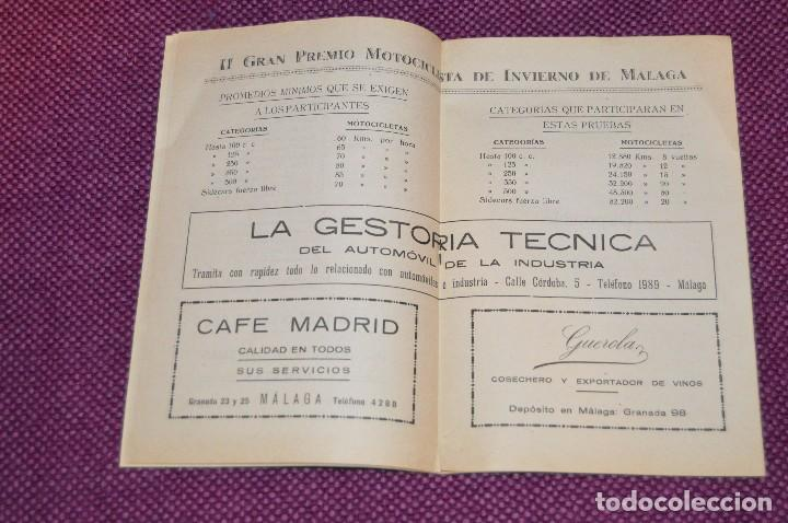 Coches y Motocicletas: ANTIGUO PROGRAMA II GRAN PREMIO MOTOCICLISTA DE INVIERNO - MALAGA - 18 FEBRERO DE 1951 - HAZ OFERTA - Foto 6 - 89009788