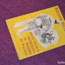 Coches y Motocicletas: ANTIGUO PROGRAMA VII GRAN PREMIO MOTOCICLISTA DE INVIERNO - MALAGA - 18 FEBRERO DE 1956 - HAZ OFERTA. Lote 89010076