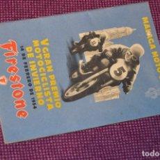 Coches y Motocicletas: ANTIGUO PROGRAMA V GRAN PREMIO MOTOCICLISTA DE INVIERNO - MALAGA - 14 FEBRERO DE 1954 - HAZ OFERTA. Lote 89010416