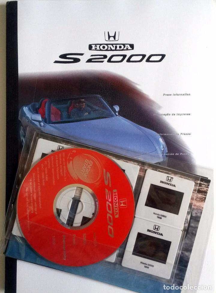 DOSSIER DE PRENSA HONDA S 2000. TEXTO EN ESPAÑOL. (Coches y Motocicletas Antiguas y Clásicas - Catálogos, Publicidad y Libros de mecánica)