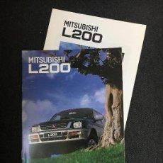 Coches y Motocicletas: FOLLETO CATALOGO PUBLICIDAD ORIGINAL MITSUBISHI MOTORS L200 DE 1996. Lote 89543568