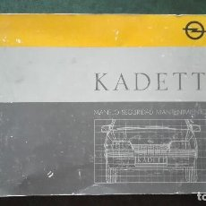 Coches y Motocicletas: OPEL KADETT LIBRO DE MANEJO-SEGURIDAD-MANTENIMIENTO. Lote 89737520
