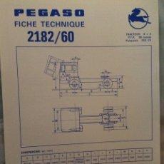 Coches y Motocicletas: FICHA CAMIÓN PEGASO 2182/60. Lote 90170330