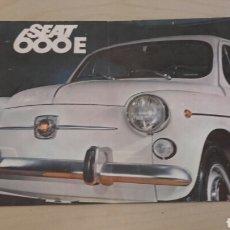 Coches y Motocicletas: CATÁLOGO DE SEAT 600E (1970). RARO DE ENCONTRAR. . Lote 90393951