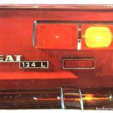Coches y Motocicletas: CATALOGO DESPLEGABLE PUBLICIDAD SEAT 124 L AÑO 1969 EN CASTELLANO. Lote 105650531