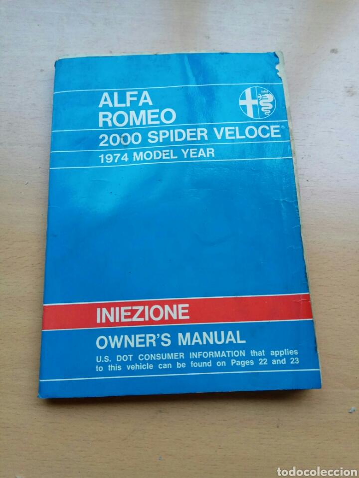 MANUAL ALFA ROMEO 1750 (Coches y Motocicletas Antiguas y Clásicas - Catálogos, Publicidad y Libros de mecánica)