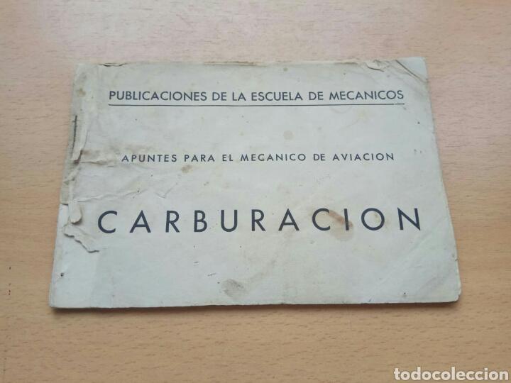 MANUAL CARBURADORES AVIACION HISPANO SUIZA (Coches y Motocicletas Antiguas y Clásicas - Catálogos, Publicidad y Libros de mecánica)