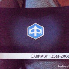 Coches y Motocicletas: MANUAL DE LA PIAGGIO CARNABY 125 ES-200ES EN VARIOS IDIOMAS. Lote 91298040