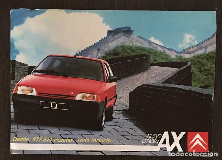 FOLLETO CATALOGO PUBLICIDAD ORIGINAL CITROEN AX DE 1987 (Coches y Motocicletas Antiguas y Clásicas - Catálogos, Publicidad y Libros de mecánica)