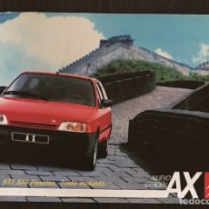 Coches y Motocicletas: FOLLETO CATALOGO PUBLICIDAD ORIGINAL CITROEN AX DE 1987. Lote 91485995