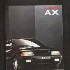 Coches y Motocicletas: FOLLETO CATALOGO PUBLICIDAD ORIGINAL CITROEN AX DE 1991. Lote 91491980