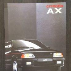 Coches y Motocicletas: FOLLETO CATALOGO PUBLICIDAD ORIGINAL CITROEN AX DE 1991. Lote 91529860