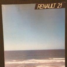 Coches y Motocicletas: FOLLETO CATALOGO PUBLICIDAD ORIGINAL RENAULT 21 DE 1986. Lote 91548602