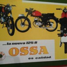 Coches y Motocicletas: POSTER MOTO OSSA AÑO 1960. REPRODUCCIÓN PARA ENMARCAR.. Lote 91698280