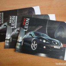 Voitures et Motocyclettes: LOTE 3 CATALOGOS SEAT LEON (2005). Lote 91748215