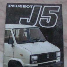 Coches y Motocicletas: (TC-21) CATALOGO PEUGEOT J5 . Lote 91825710