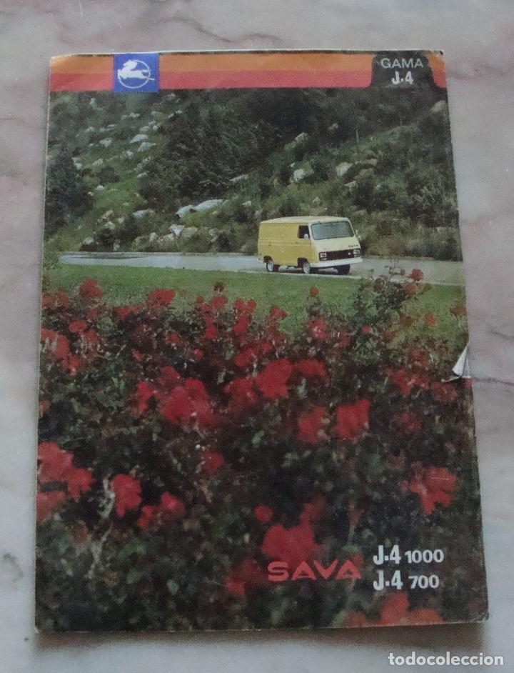 (TC-21) CATALOGO PEGASO SAVA J-4 (Coches y Motocicletas Antiguas y Clásicas - Catálogos, Publicidad y Libros de mecánica)
