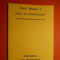 Coches y Motocicletas: FORD T. LIBRO DE INSTRUCCIONES. Lote 91844450