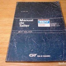 Coches y Motocicletas: GUIA DE TASACIONES-MANUAL DE TALLER-SEAT MALAGA.OCTUBRE 1986.. Lote 91870175