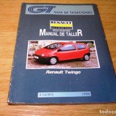 Coches y Motocicletas: GUIA DE TASACIONES-MANUAL DE TALLER-RENAULT TWINGO.ENERO 1994.. Lote 91870660