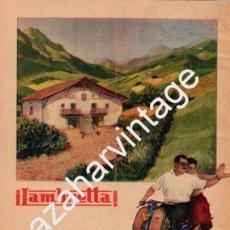 Coches y Motocicletas: PUBLICIDAD MOTOS LAMBRETTA AÑOS 50. Lote 92005605