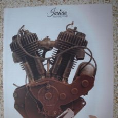 Coches y Motocicletas: CARTEL POSTER MOTOR INDIAN TWIN 1917 MOTOCYCLE. Lote 92013855